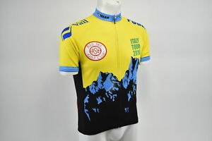 Medium Men's Verge Italy Tour 2010 Short Sleeve Cycling Jersey Yel/Blk CLOSEOUT