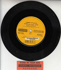 "TAMMY WYNETTE Stand By Your Man & D.I.V.O.R.C.E. 7"" 45 record + juke box strip"
