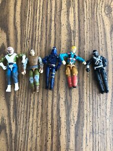 "Set Of 5 Vintage GI Joe 4"" Figurines 1980s Era Hasbro 1982 1983 1989"
