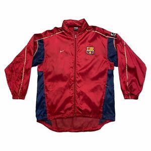 FC Barcelona Nike Training Jacket | Vintage Spanish Football Sportswear Large