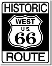"Historic West Us Route 66 Beach Metal 12.5"" X 16"" Metal Sign"