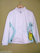 NWT Sunice Storm Pure White Jade Hooded Waterproof Lined Spring Jacket M $160