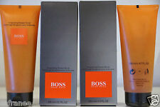 lot 2 Gommage Revigorant Hugo BOSS neuf douche flacon 200ml parfum bain