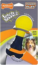 "Nylabone Power Play Fetch Bounce Soft Bouncy Ball Dog Toy Rubber 5"" Blue Erratic"