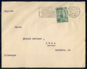 Mayfairstamps BELGIUM COMMERCIAL 1939 COVER BRUXELLES TO GERA GERMANY wwi93003