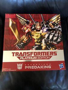 Transformers Platinum Edition Predaking predicons NEW SEALED