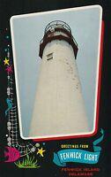 """*Delaware Postcard-""""Greetngs from Fenwick Light"""" /Fenwick Island/ (U1-10)"""