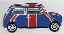 Mini Cooper Union Jack Side Large Iron On/ Sew On Embroidered Patch Badge