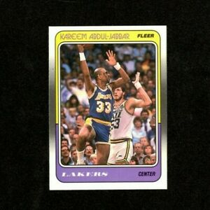 Kareem Abdul-Jabbar 1988 Fleer Basketball Card #64- Los Angeles Lakers