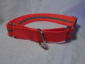 "Reflective Orange 1"" Adj Martingale Collar"