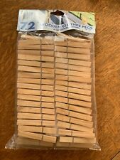 Clothespins Laundry Wooden Large Regular Springs 72 pc. New