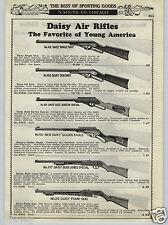 1937 PAPER AD Daisy Air Rifle BB Gun Buzz Barton Buck Jones Golden Eagle Pump
