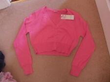 BNWT girls pink shrug bolero short cropped cardigan age 13-14 FREE POSTAGE
