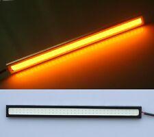 4x Amber/Yellow 17CM COB 6W LED Strip Daytime Running DRL Light 12V US POST