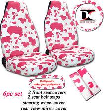 6pc set front+swc+sbc+rvmc in cow prints white/tan/gray/purple/pink,CHOOSE URS!!