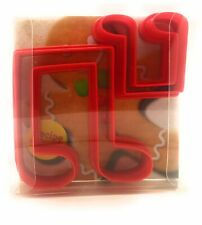 Double Music Notes Cookie Cutter set of 2, Biscuit, Pastry, Fondant Cutter