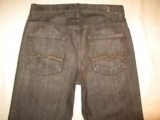 7 For All Mankind Ginger jean Sz 27 w Stretch Brown High Waist Wide Leg Flare