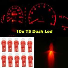 10x T5 Wedge Red LED Dash Instrument Cluster Speedometer Light 37 70 73 74 New