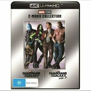 GUARDIANS OF THE GALAXY 2 Film Collection 4K UHD (Reg Free) volume 1 & 2 Marvel