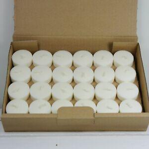 Teelichte aus recycelter Biomasse, 48 Stück ohne Hülle, für die Umwelt