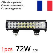 "12"" 72W Phare LED Travail Light Bar Combo barre de led 4x4 offroad Tractor 12V"