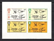 Nagaland, India Local 1982 issue. Scouting Anniversary, IMPERF sheet.