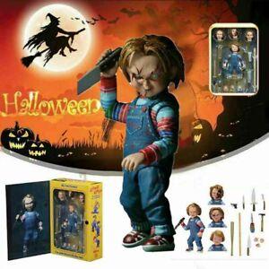 NECA Scary Chucky Figure Toy Horror Movie Child Play Bride of Horror Doll UK*