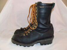 """DANNER Quarry Logger 10"""" Black Leather Boots Vibram Soles Men 10.5 US / 44.5 EU"""