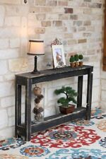 BLACK RUSTIC ENTRY TABLE 46''