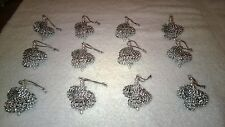 12 HANDMADE CHRISTMAS ORNAMENTS MADE WITH BLING SILVER