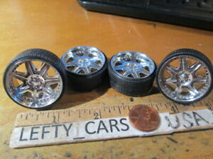 4Chrome Deep Dish Rims Parts '03FORD F-150 SUPER CREW TK  SCALE 1/24 - stock#1