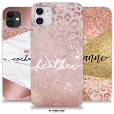 PERSONALISED PHONE CASE INITIALS NAME ANIMAL PRINT COVER IPHONE 7 8 XS 11 XR