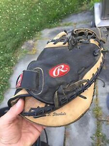 Rawlings Longhorn Series LHCM LiTe Toe RHT Catchers Mitt Gold glove 11.5 Repair