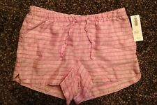 Nwt Girl's Old Navy Pink Striped Rayon Shorts with Pockets - Size Xs 5