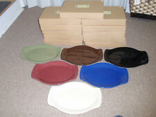 "Longaberger Pottery, WT ""MEDIUM OVAL PLATTER"" PAPRIKA ONLY, NEW IN BOX!!"