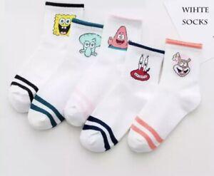 Socks Unisex Sponge Bob Cartoon Novelty Sock Character Funny Fun Foot Wear