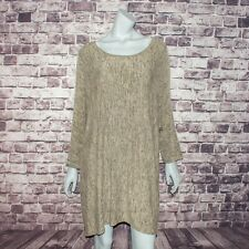 Comfy USA Women's Plus Sz 1X Tunic Beige Made in USA