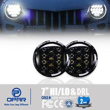 2x 7''Inch Round LED Headlight Hummer Lights & DRL For Jeep Wrangler JK TJ 97-16