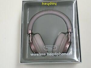 NEW Heyday Wireless Bluetooth 5.0 On-Ear Headphones (Ballet Pink)
