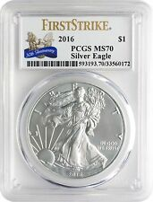 2016 American Silver Eagle 1oz PCGS MS70 First Strike 30th Anniv AEP Label NDS*