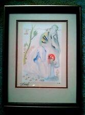 Salvador Dali original signed wood block print Divine comedy Canto 33 Purgatorio