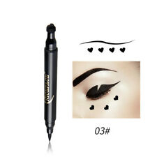 Black Waterproof Liquid Eyeliner Pen with Stamp Tattoo in 5 Shapes Make up