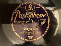 "Louis Armstrong & Hot Five 78 RPM ""West End Blues BW/ That's a Plenty G+/ VG"