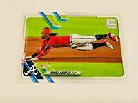 2021 Topps Baseball Base Card #263 - Ronald Acuna Jr - Atlanta Braves