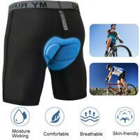 Fahrradhose Herren + 4D Gel Sitzpolster Radlerhose Unterhose Polster MTB Shorts