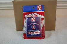 Giant Face Smooth finish Peoples Playing cards. Poker. USA