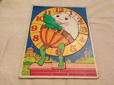 VTG 1981 Playskool Wooden Puzzle Clock