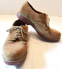 GH BASS & CO BROWN SUEDE OXFORD LACE UP MENS SIZE 7 1/2 OR WOMENS SIZE 9 1/2
