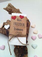 20 Stck. Taschentücher für Freudentränen -Give Away Deko Hochzeit Gastgeschenk