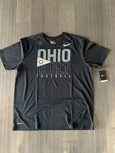 Brand New Nike Ohio Built Football Be True T Shirt Black Size XXL